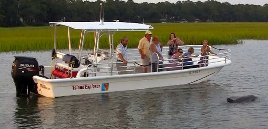 Pontoon seats for Hilton head fishing party boat